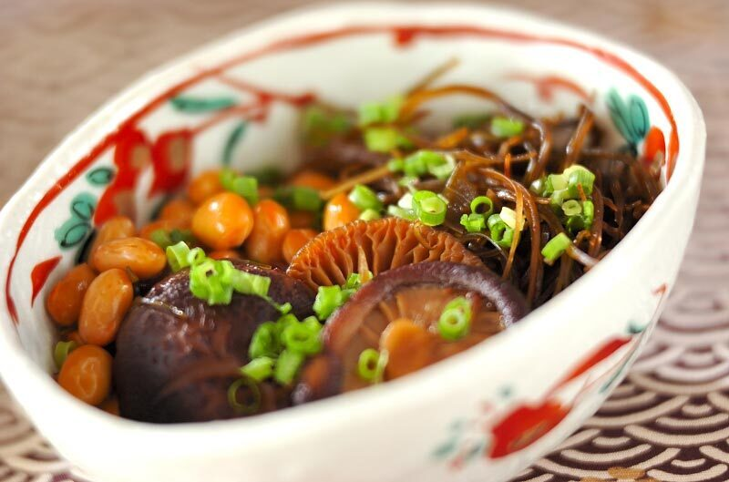 干し椎茸と大豆のうま煮