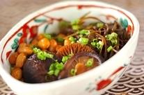 シイタケと大豆のうま煮