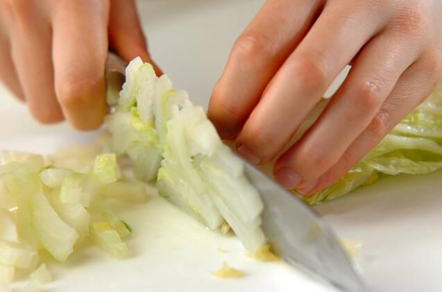 白菜のゴマ和えの作り方の手順1