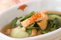 青菜と油揚げの煮物