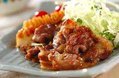 豚肉とタケノコのショウガ焼き