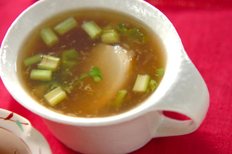 カブのショウガスープの料理写真