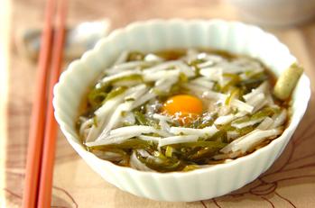 めかぶと長芋素麺