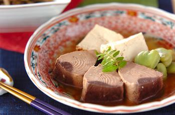 なまり節と豆腐の炊き合わせ