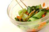 クラゲとチンゲンサイの中華和えの作り方2