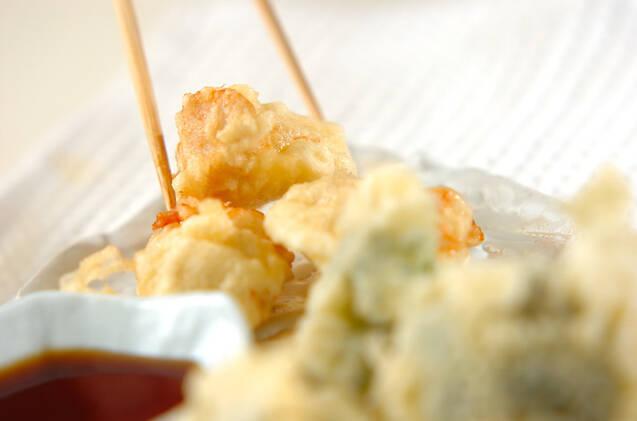 ささ身とブロッコリーの天ぷらの作り方の手順3