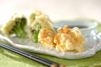 ささ身とブロッコリーの天ぷら