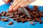 ホットチョコベリージャムの下準備1