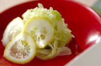 玉ネギとキャベツのレモンマリネ