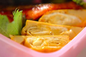 ゴマチーズの和風卵焼き