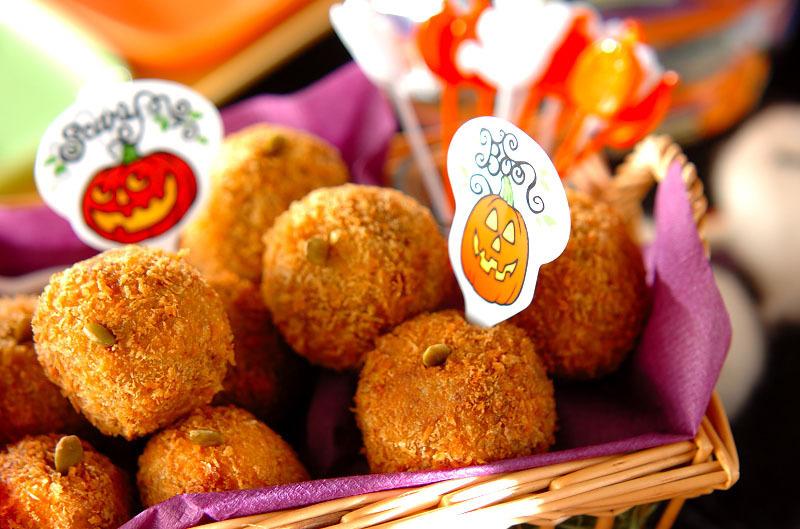 かぼちゃとひき肉のひと口コロッケ