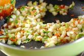 白菜チャーハンの作り方1