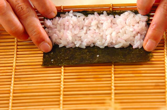 ぶたちゃんデコ巻き寿司の作り方の手順2
