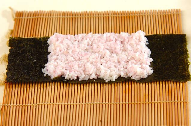 ぶたちゃんデコ巻き寿司の作り方の手順3
