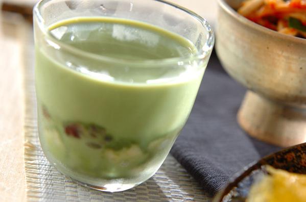 1.抹茶豆乳プリン