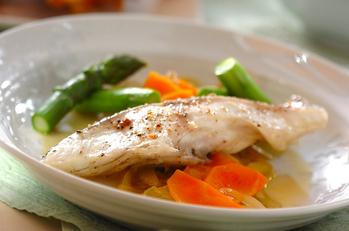 鯛の蒸し煮