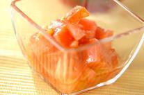 トマトのワサビマリネ