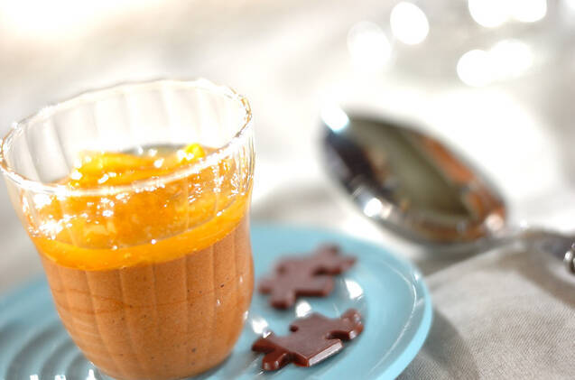 オレンジソースのチョコムース
