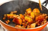 血行促進☆カボチャと大豆の甘辛炒めの作り方5