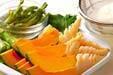 キスと春野菜の天ぷらの作り方の手順2