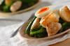 菜の花とチキンのシーザーサラダ