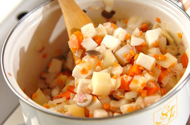 カブとレンズ豆のスープの作り方の手順3