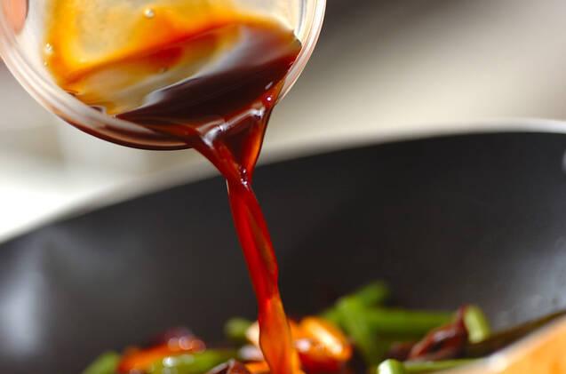 ニンニクの芽のオイスター炒めの作り方の手順5