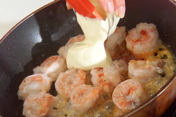 エビのピリ辛マヨ炒めの作り方の手順3