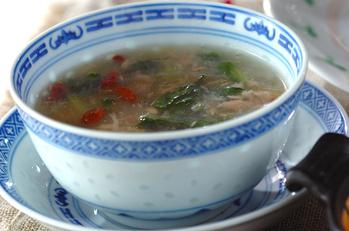ツナとカブの葉のスープ