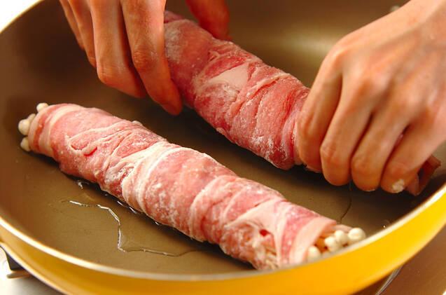 豚肉ロールの照り焼き丼の作り方の手順5