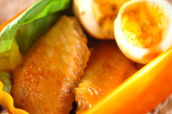 ゆで卵と手羽先の甘酢煮