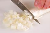 白ネギとエノキのスープの下準備1