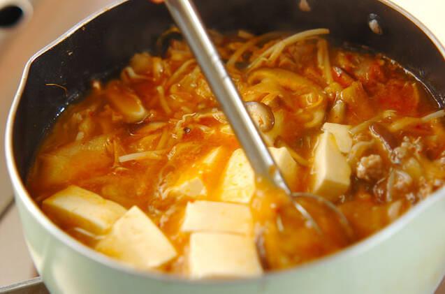 代謝を促す!キムチのみそスープの作り方の手順5