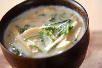 水菜の豆乳汁