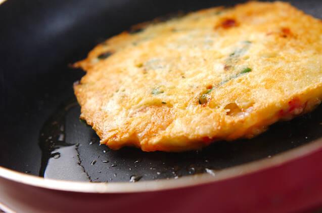 チヂミ風山芋お焼きの作り方の手順4