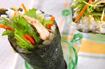 水菜・手巻きサラダ