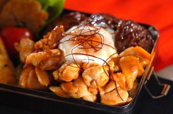 丸ごとシイタケと鶏肉のショウガ焼き丼