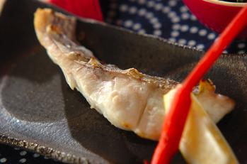 鯛のグリル塩焼き