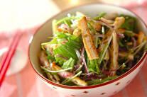 水菜と揚げの和風サラダ