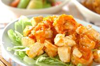 エビと豆腐のチリソース