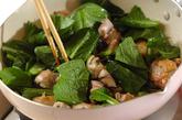 鶏肉と小松菜の塩昆布炒めの作り方2