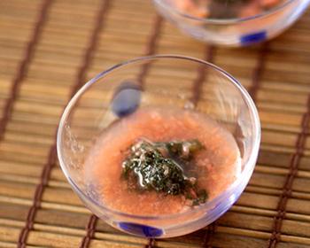 海ぶどうの梅肉和え
