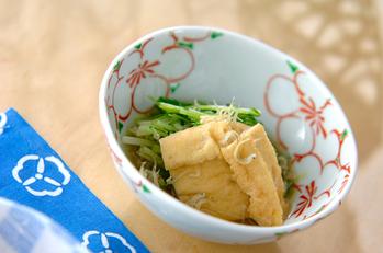 水菜と揚げの煮物