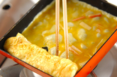 カニカマ入り卵焼きの作り方2