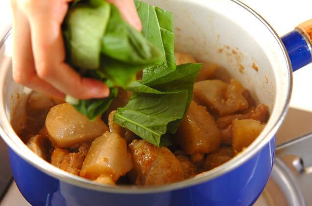 鶏肉と里芋の炒め煮の作り方の手順6