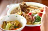 お肉のクリーミーカレー鍋の作り方9