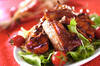 骨付きバラ肉のショウガ炒め煮の作り方の手順