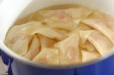 鶏のつるりんワンタンスープの作り方2