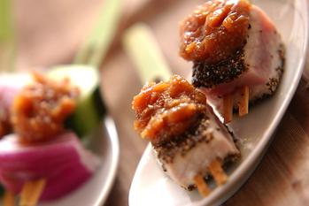 ペッパーマグロ串焼き