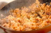 手作り鮭フレークのマヨパスタの作り方1